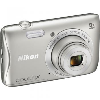 Nikon COOLPIX S3700 Digital Camera (Silver)
